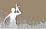Soldier patrol cutout