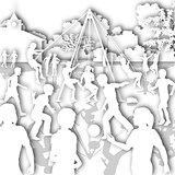 White playground cutout