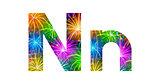 Set of letters, firework, N