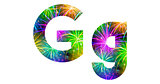 Set of letters, firework, G