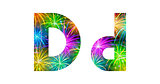 Set of letters, firework, D
