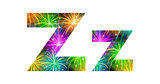 Set of letters, firework, Z
