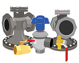 Set of valves