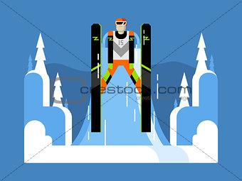 Ski jumping flat
