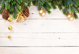 Christmas background with pine tree