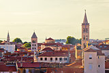 Historic Zadar skyline and rooftops