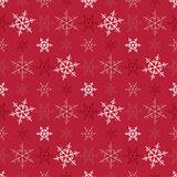 Seamless snowflake Christmas vector background