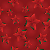 Vector seamless Christmas pattern with clipped stars. Holiday theme. For wrapping paper, wallpapers, web site background, textile