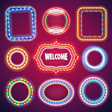 Neon Lights Banners Set