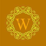 Simple  Monogram W