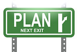 Plan green sign board isolated