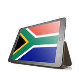 Tablet with South Africa flag