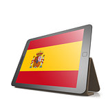 Tablet with Spain flag