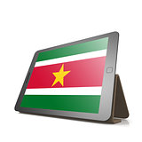Tablet with Suriname flag