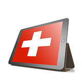 Tablet with Switzerland flag