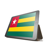 Tablet with Togo flag