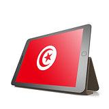 Tablet with Tunisia flag