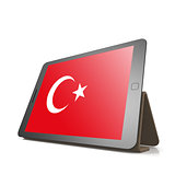 Tablet with Turkey flag