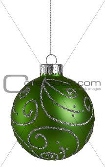 Green Glitter Christmas Ball