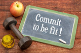 Commit to be fit - concept on blackboard