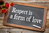 Respect is a form of love