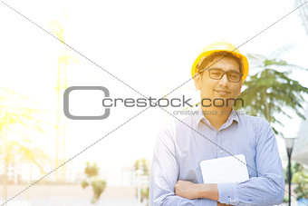Asian Indian male contractor engineer portrait