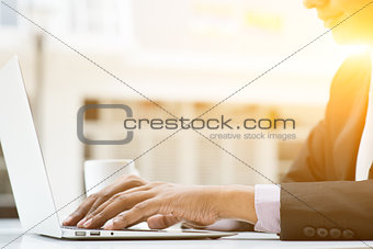 Business people and laptop