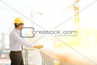 Site contractor engineer working