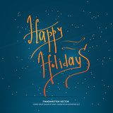 Happy holiday lettering