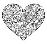 abstract  heart on white background.
