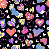 pattern with colorful hearts