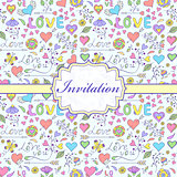 colorful invitation card