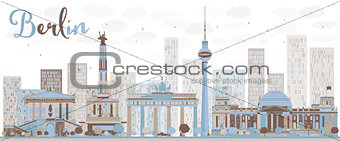 Abstract Berlin skyline with color building.