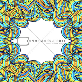 abstract colorful frame