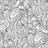 pattern with abstract flowers,leaves and lines.