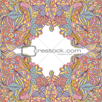abstract floral frame.