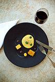 Egg and polenta