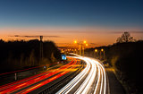 Motorway Car Light Trails