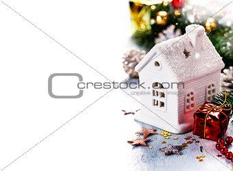 Christmas candle house