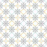 Snow Flakes Ornament Seamless Pattern