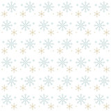 Snow Flakes Gray and Gold on White Background