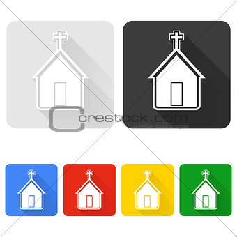 Church icon set