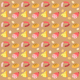 pattern with foods