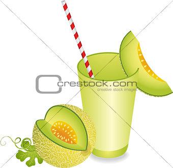 Cantaloupe Melon Juice Summer Refreshment