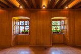 Wooden Room with Windows
