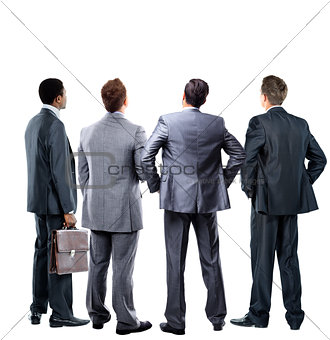four business mans from the back