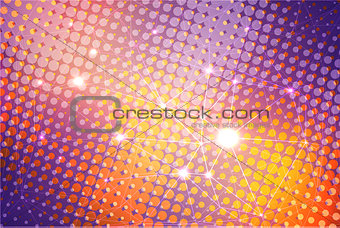 Abstract colorful background with stars.
