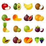 Icon Set Fruits
