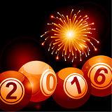 Bingo lottery balls 2016 and fireworks