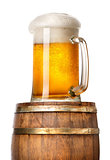 Light beer on cask